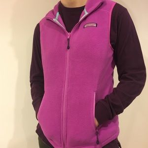 Purplish pink Vineyard Vines lightly used vest